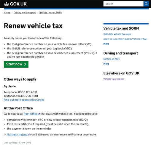 Renew my car tax