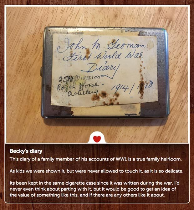 First World War diary