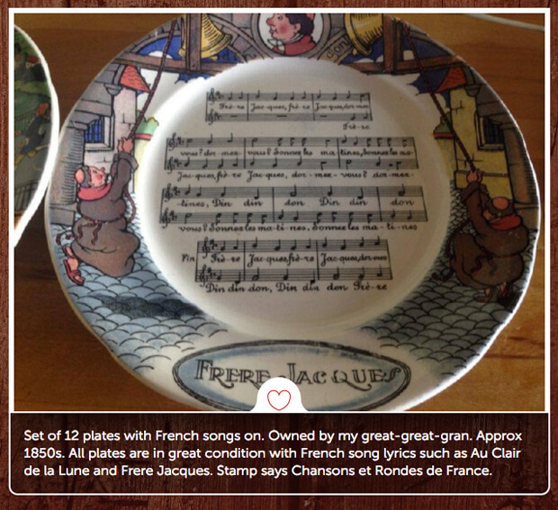 French song plate