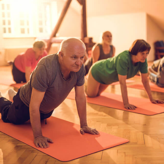 Exercise class for older people