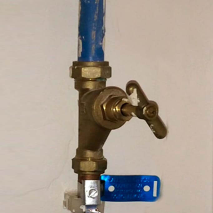 Water Supply Valve Under Kitchen Sink