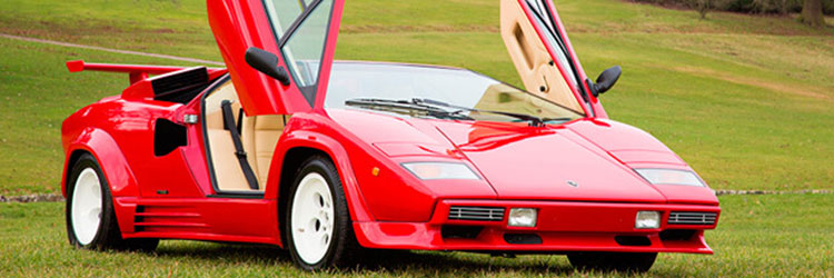 Lamborghini Countach with side-opening door