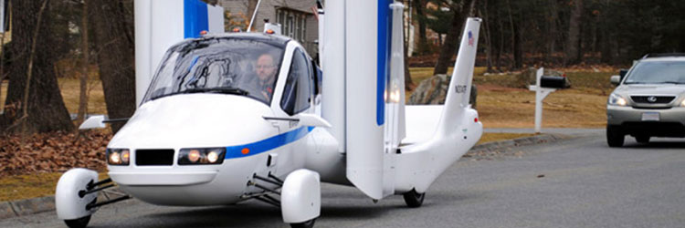 Terrafugia car plane with side-opening door