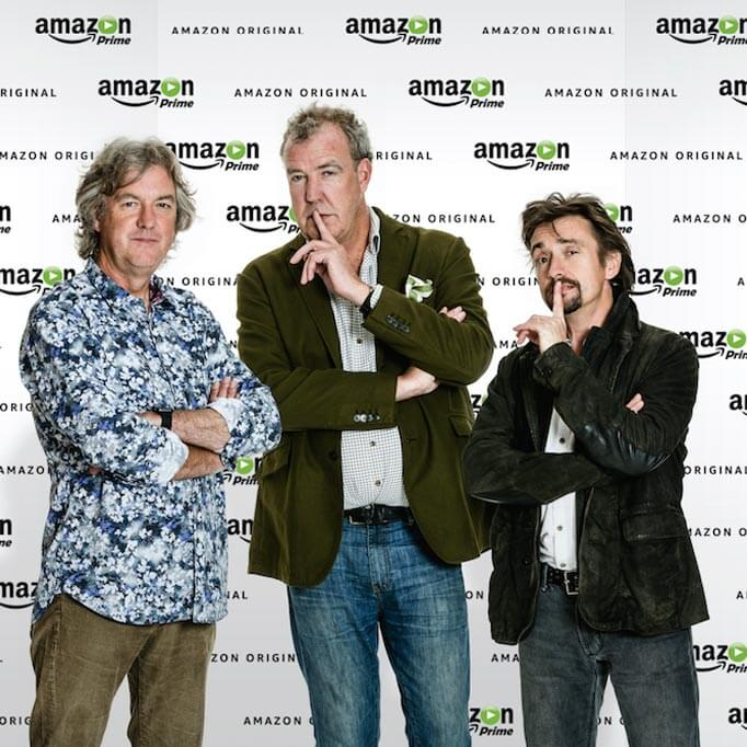 Top Gear presenters James May, Richard Hammond, and Jeremy Clarkson