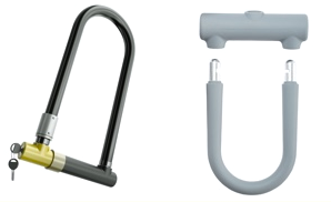 Shackle locks on a white background
